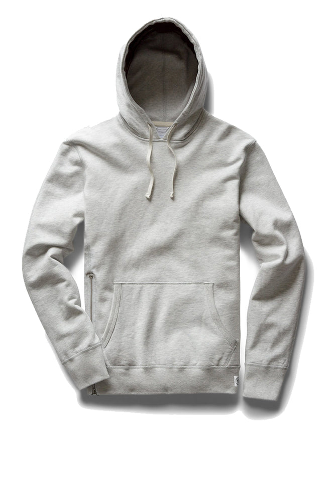 Side Zip Pullover Hoodie - Heather Ash