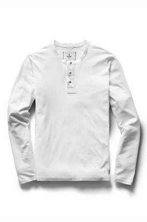 Reigning Champ Ringspun Jersey Henley White