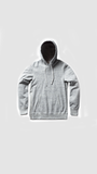 Side Zip Pullover Hoodie - Ice Grey