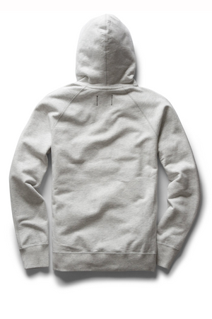 Reigning Champ Side Zip Pullover Hoodie Heather Ash