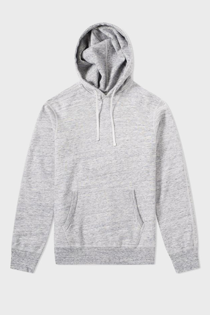 Reigning Champ Side Zip Hoodie Grey