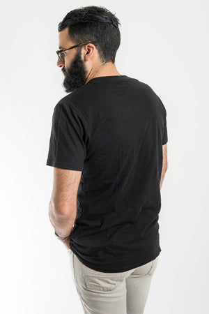 Richer Poorer Black V Neck Tee