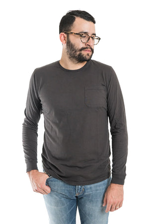 Richer Poorer Long Sleeve Pocket Tee - Charcoal