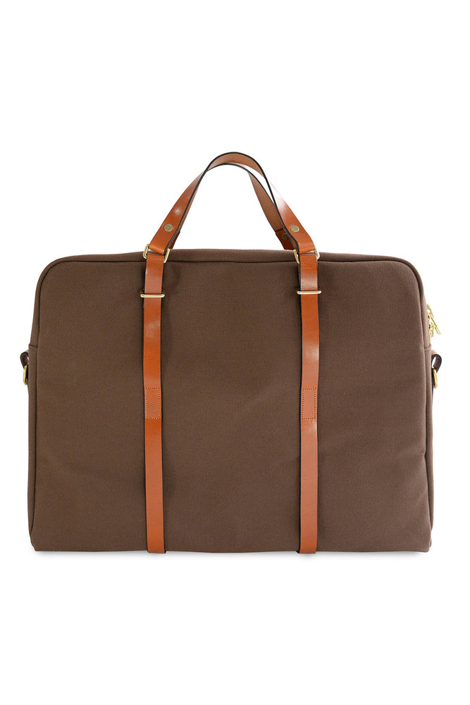 Briefcase - Oak & Tan