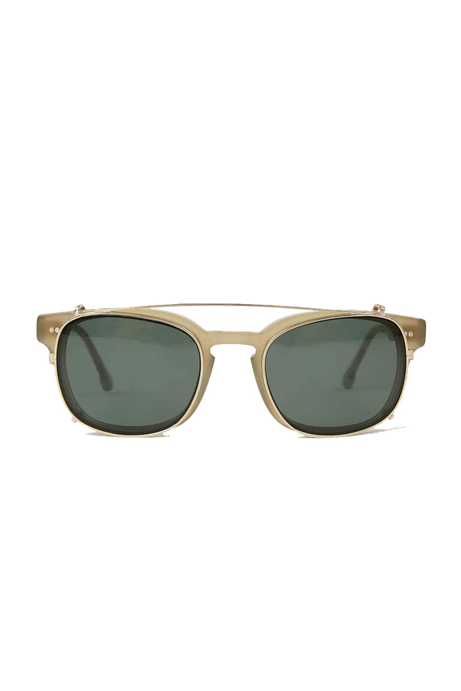 Monroe Clip On Sunglasses - Light Dew