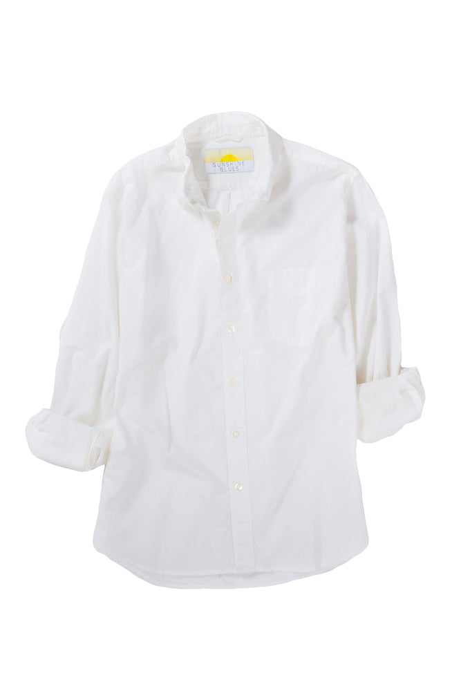 Sunshine Blues Longsleeve Natural White Cambric Shirt