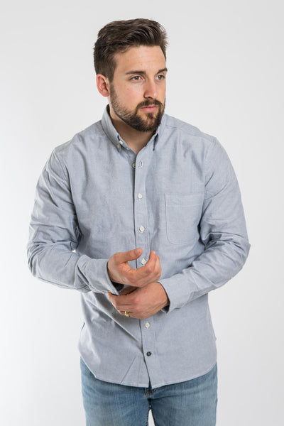 Taylor Stitch Blue Everyday Oxford Jack Shirt