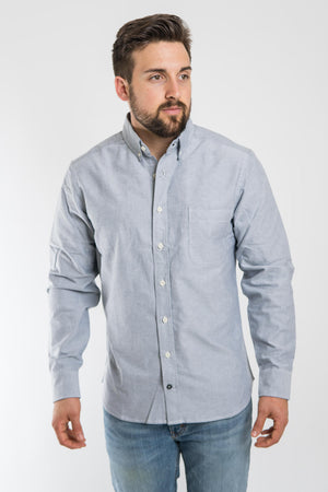 Taylor Stitch Blue Everyday Oxford Jack Shirt - Charcoal Grey