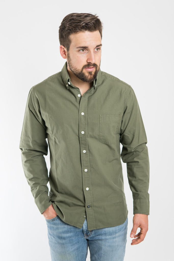 taylor Stitch Olive Everyday Oxford Jack Shirt