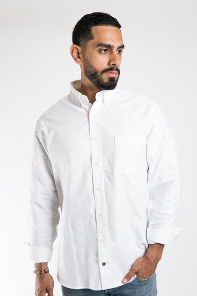 Taylol Stitch White Oxford Jack Shirt