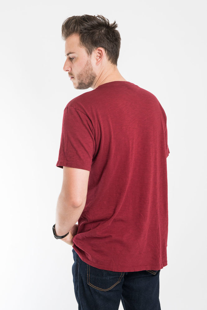 Velva Sheen Rolled Tee Burgundy