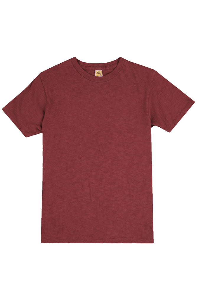 Velva Sheen Rolled Tee - Burgundy