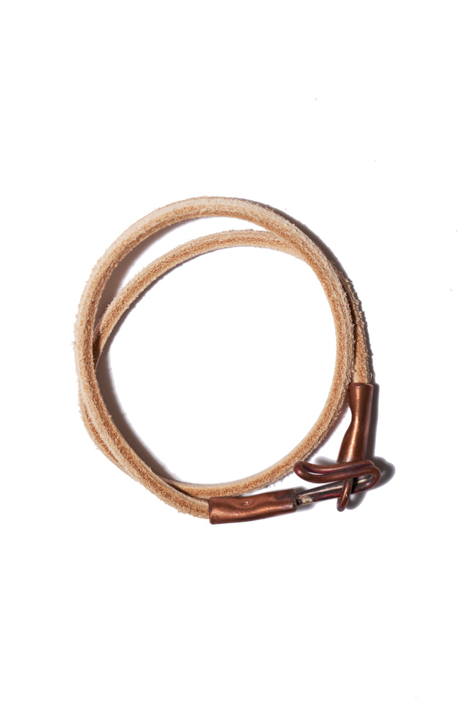 Leather Wrap Bracelet - Veg Tan