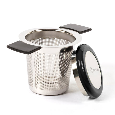 Large Capacity Stainless Steel Tea Infuser- Silicone Covers Handles & Lid Prevent Burns, Spills