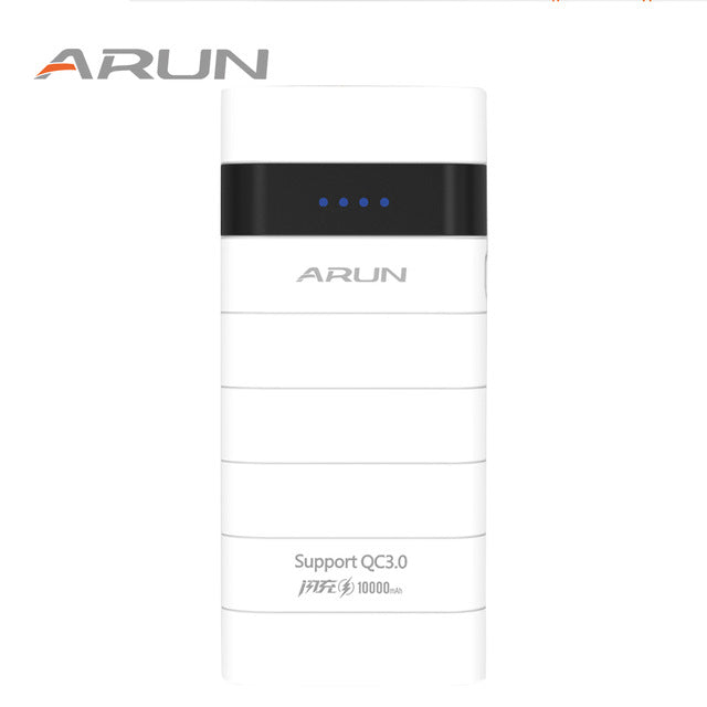 Dual USB White  Quick Y305Q2 ARUN Large Capacity Charge Battery Pack  Charging For Android and IOS Mobile Phones with Indicator