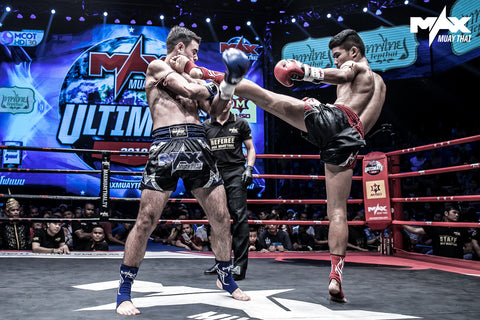 Tarim Press Action Shot At Max Muay Thai