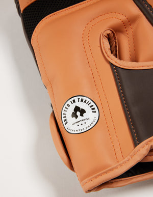 "InFightStyle ""Heritage"" Muay Thai Boxing Glove - Espresso/Caramel - InFightStyle Muay Thai Gear, Boxing Gloves"