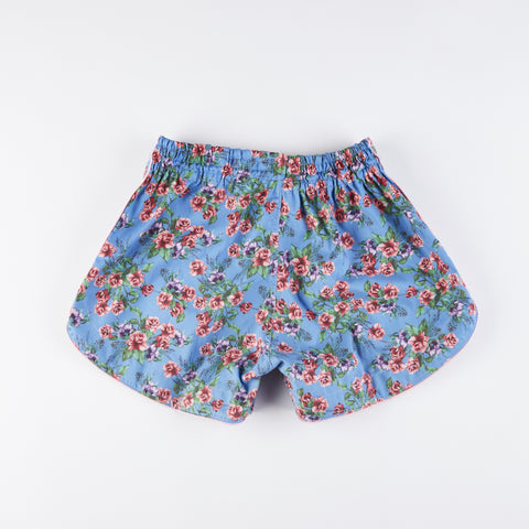 InFIghtStyle Floral Training Shorts - Light Blue