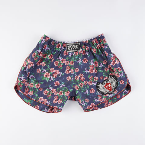 InFightStyle Floral Training Shorts - Purple