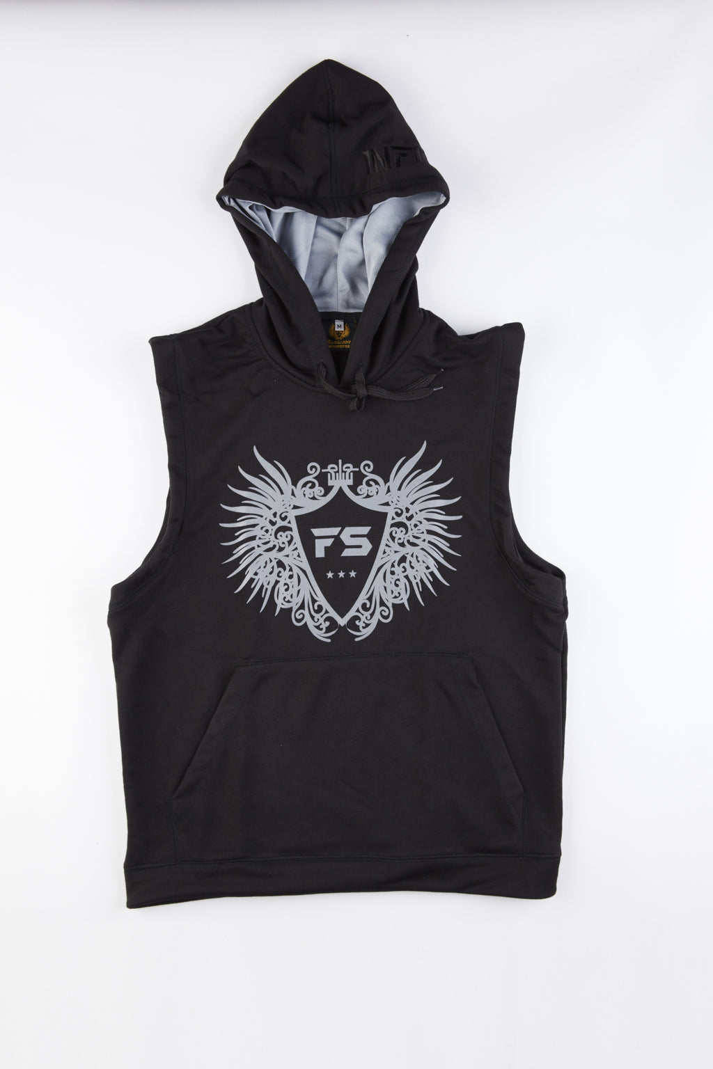 InFightStyle Sleeveless Hoodie - Black - InFightStyle Muay Thai Gear, Top