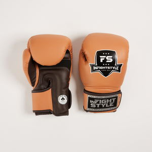 "InFightStyle ""Heritage"" Muay Thai Boxing Glove - Caramel/Espresso - InFightStyle Muay Thai Gear, Boxing Gloves"