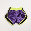 "InFightStyle ""Uncut"" Retro Short - Purple/Neon Yellow - InFightStyle Muay Thai Gear, UNCUT"