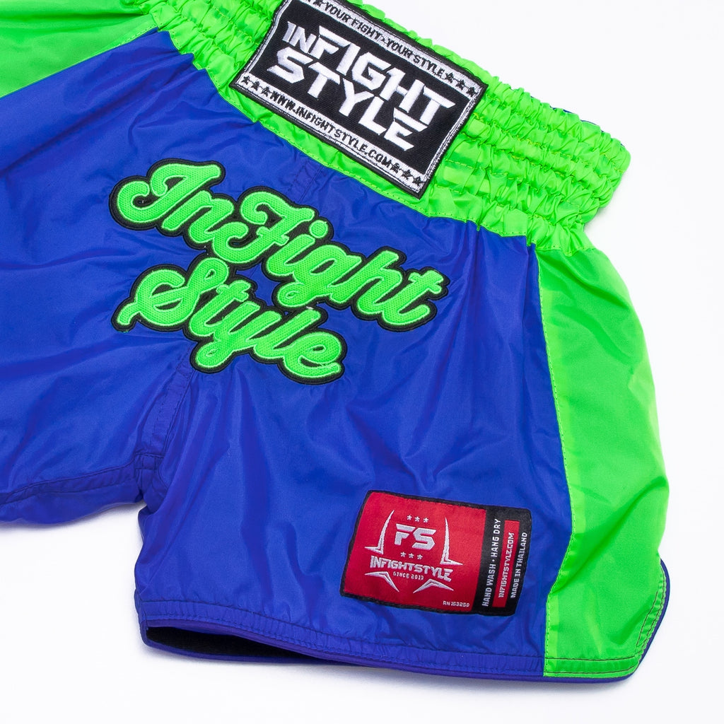 Kids Classic Nylon Retro - Blue/Neon Green