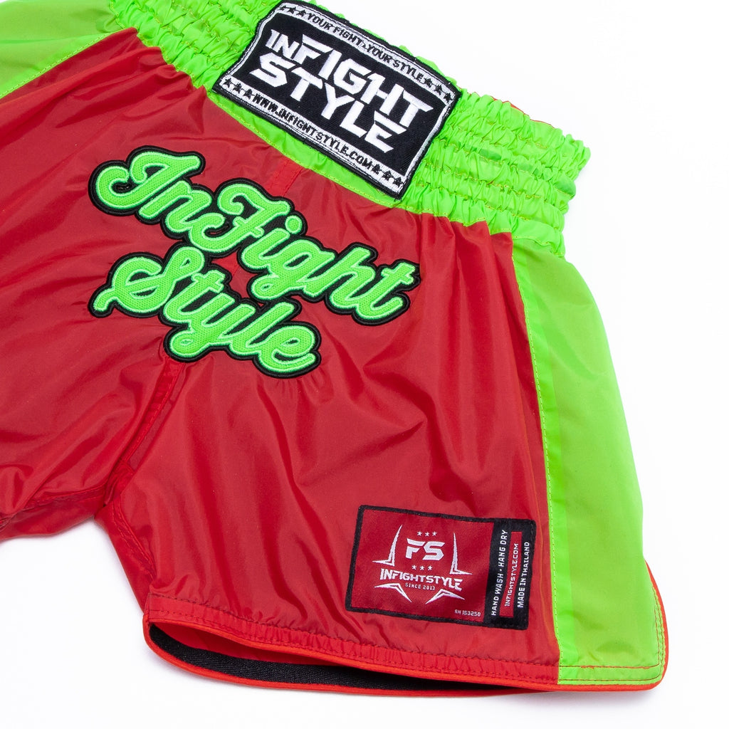 Kids Classic Nylon Retro - Red/Neon Green