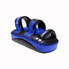 InFightStyle Curved Double Leather Kickpad - Black/Blue