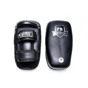 InFightStyle Curved Leather Kickpad - Black