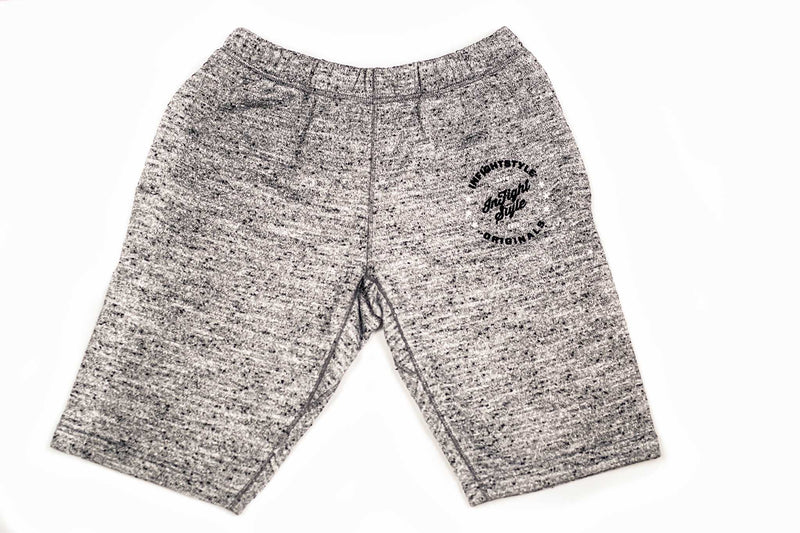 InFightStyle Originals Sweat Shorts - Grey Topdry (Final Sale) - InFightStyle Muay Thai Gear, Shorts