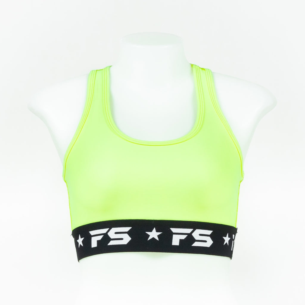 InFightStyle Performance Sports Bra - Lemon Ice - InFightStyle Muay Thai Gear, Sports Bra