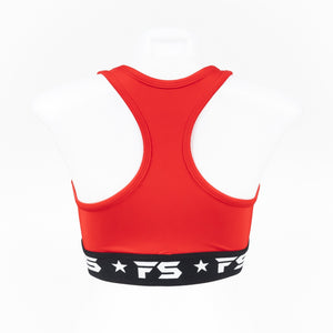 InFightStyle Performance Sports Bra - Red - InFightStyle Muay Thai Gear, Sports Bra