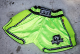 InFightStyle Starter Series - Neon Green - InFightStyle Muay Thai Gear, Retro Shorts