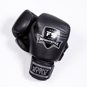 InFightStyle Classic Muay Thai Boxing Gloves - Black - InFightStyle Muay Thai Gear, Boxing Gloves
