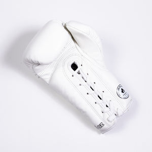InFightStyle Lace Up Boxing Gloves - White - InFightStyle Muay Thai Gear, Boxing Gloves