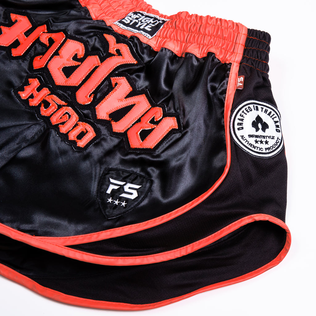 "InFightStyle ""Uncut"" Retro Short - Infrared - InFightStyle Muay Thai Gear, UNCUT"