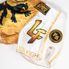 Official InFightStyle x Lionfight Fight Shorts - White - InFightStyle Muay Thai Gear, Retro Shorts