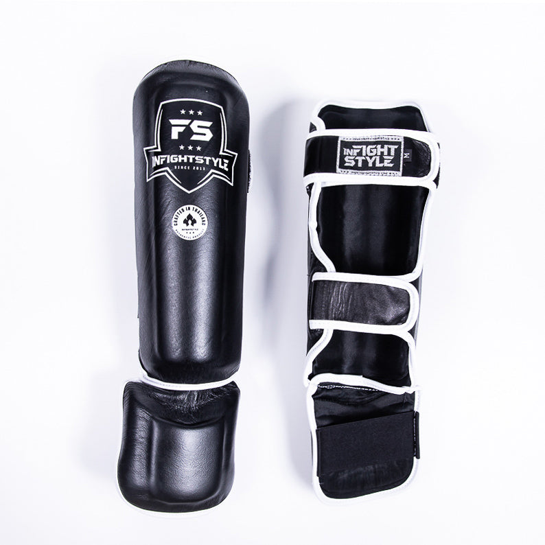 "InFightStyle ""Pro Legacy"" Shinguards - Black - InFightStyle Muay Thai Gear, Shin Guards"