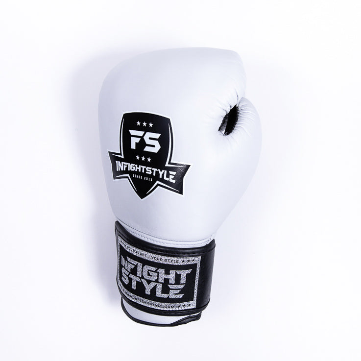 "InFightStyle ""Pro Legacy"" Muay Thai Boxing Glove - White - InFightStyle Muay Thai Gear, Boxing Gloves"