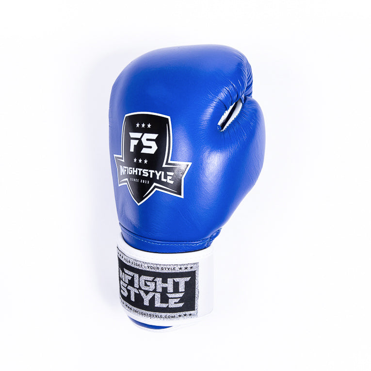 "InFightStyle ""Pro Legacy"" Muay Thai Boxing Glove - Blue - InFightStyle Muay Thai Gear, Boxing Gloves"