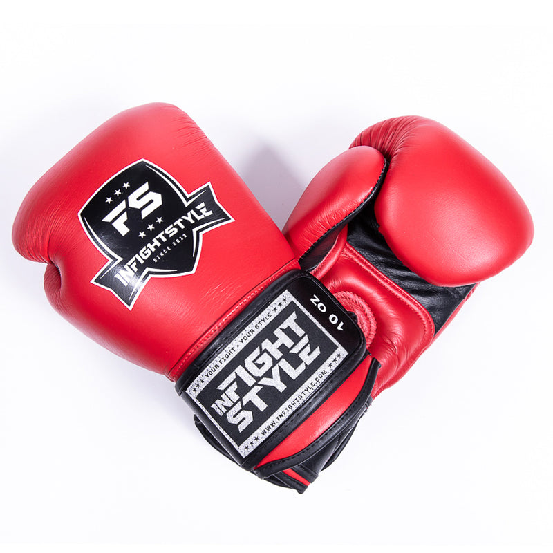 "InFightStyle ""Pro Legacy"" Muay Thai Boxing Glove - Red - InFightStyle Muay Thai Gear, Boxing Gloves"