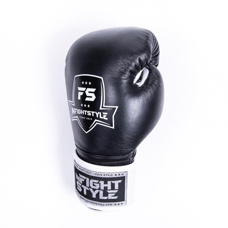 "InFightStyle ""Pro Legacy"" Muay Thai Boxing Glove - Black - InFightStyle Muay Thai Gear, Boxing Gloves"