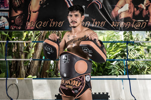 "InFightStyle ""Heritage"" Belly Pad - Espresso/Caramel - InFightStyle Muay Thai Gear, Training Gear"