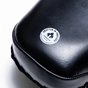 InFightStyle Single Curved Leather Kickpad - Black