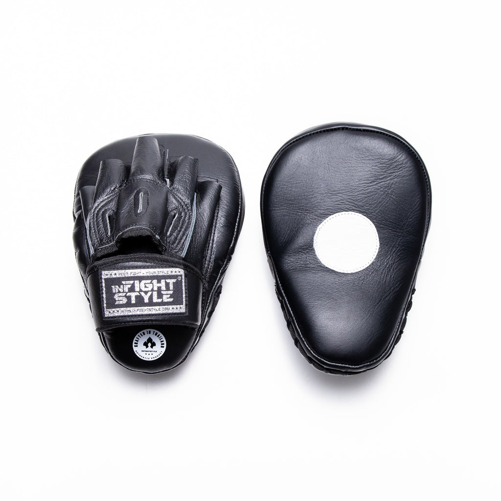 InFightStyle Classic Curved Focus Mitts - Black