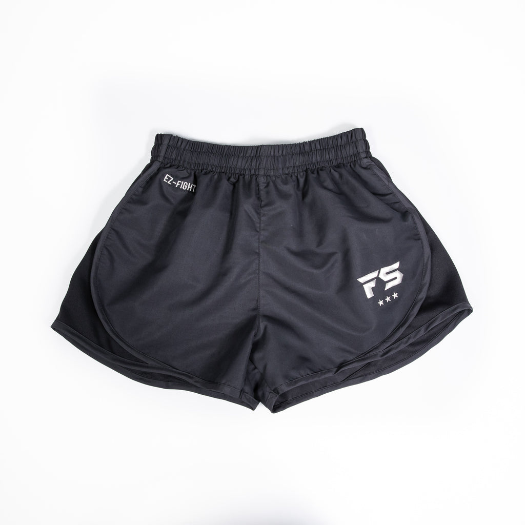 InFightStyle EZ-Fight Shorts - Black - InFightStyle Muay Thai Gear, Training Line Shorts