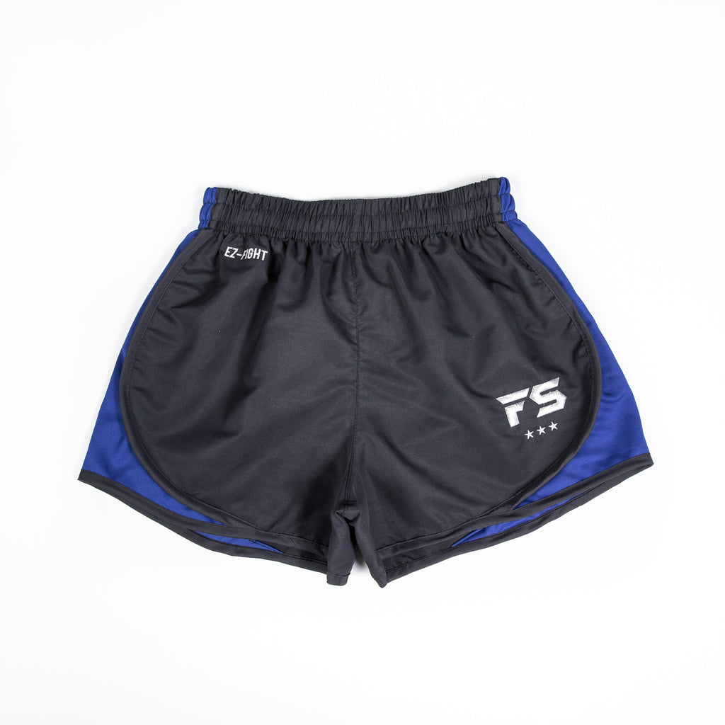 InFightStyle EZ-Fight Shorts - Blue - InFightStyle Muay Thai Gear, Training Line Shorts