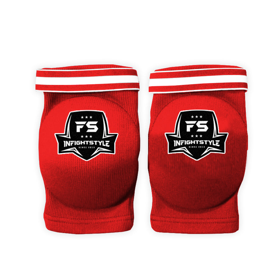 Cloth Elastic Elbow Pads - Red