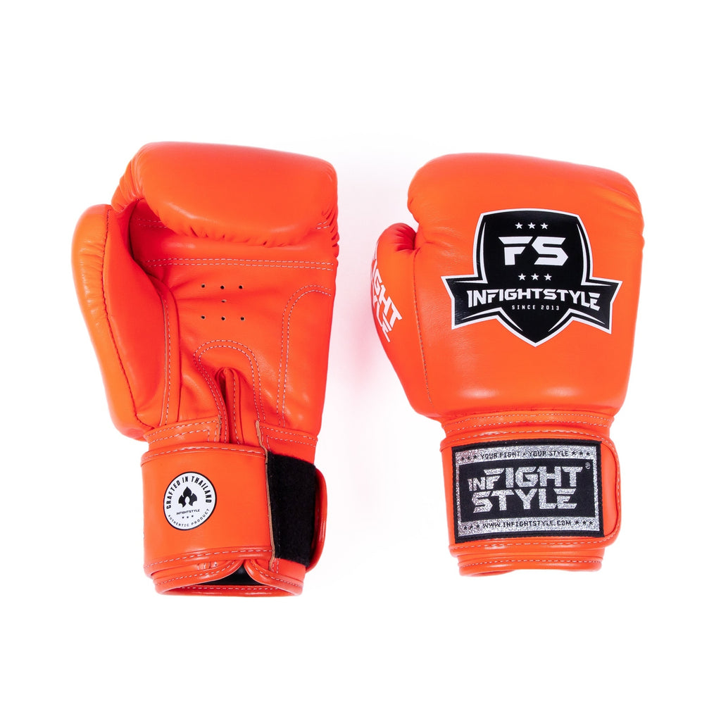 InFightStyle Classic Muay Thai Boxing Gloves - Orange